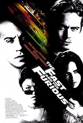 Fast and Furious original movie poster